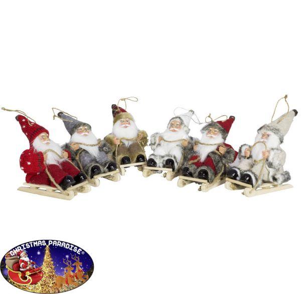 Weihnachtsmann 18cm auf Schlitten
