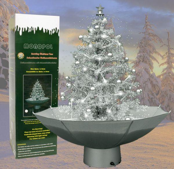 Schneiender Weihnachtsbaum 75cm silber