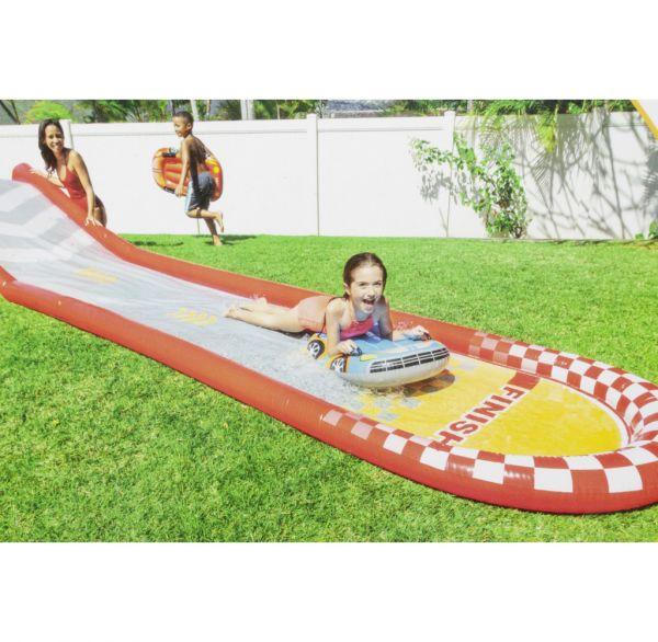 Intex aufblasbare Wasserrutsche 560cm mit 2 Wasserschlitten