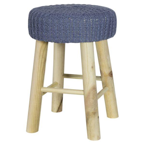 Sitzhocker mit Strickbezug 30cm