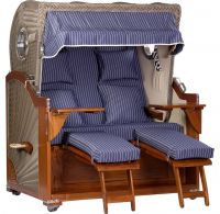 Mahagoni Luxus Strandkorb 2,5 Sitzer