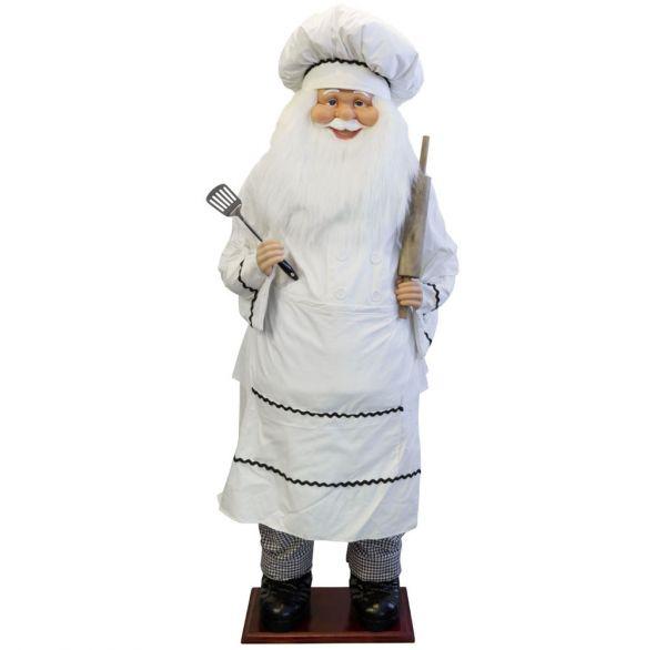 Santa Bäcker 180cm - Lebensgröße