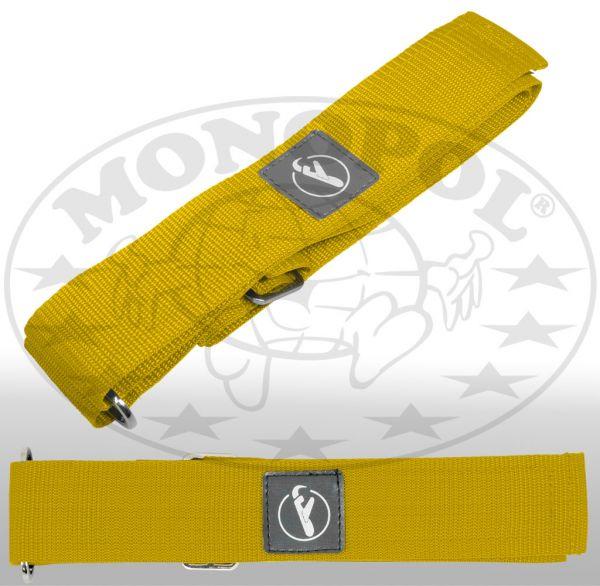 Koffergurt mit Klettverschluss gelb