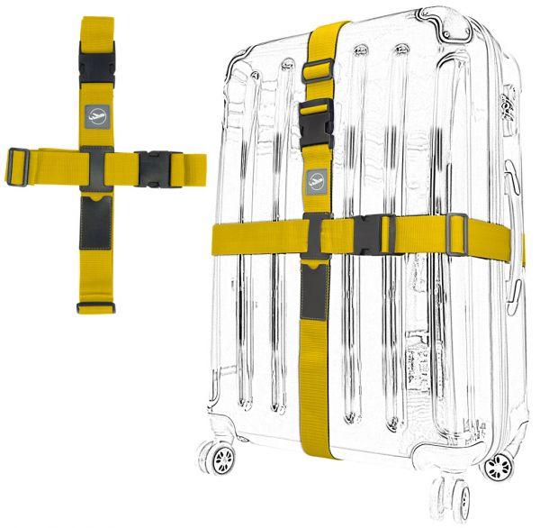 Kreuz-Koffergurt 2-Wege gelb