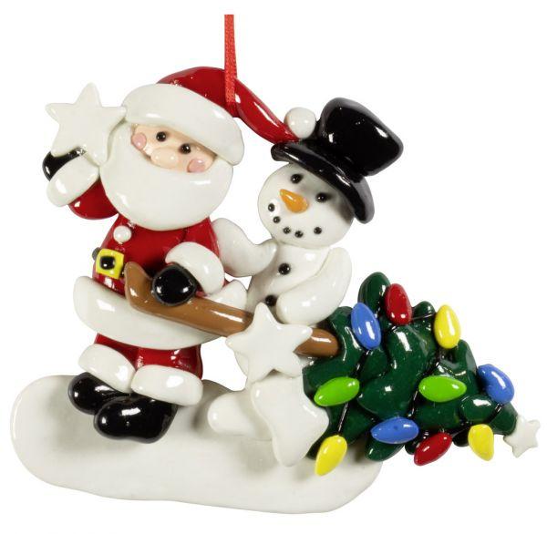 Baumschmuck Santa + Schneemann 11cm