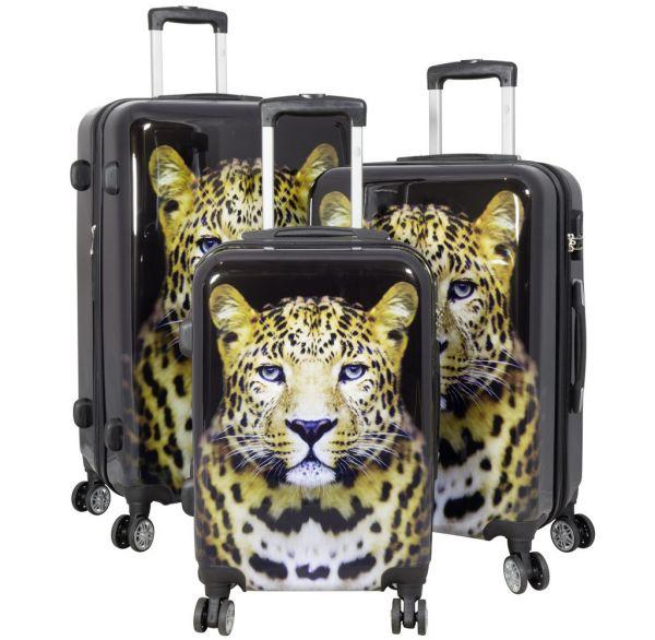 Polycarbonat Kofferset 3tlg Leopard