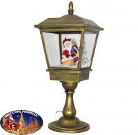 Schneiende LED Tischlaterne 65cm Motiv Santa
