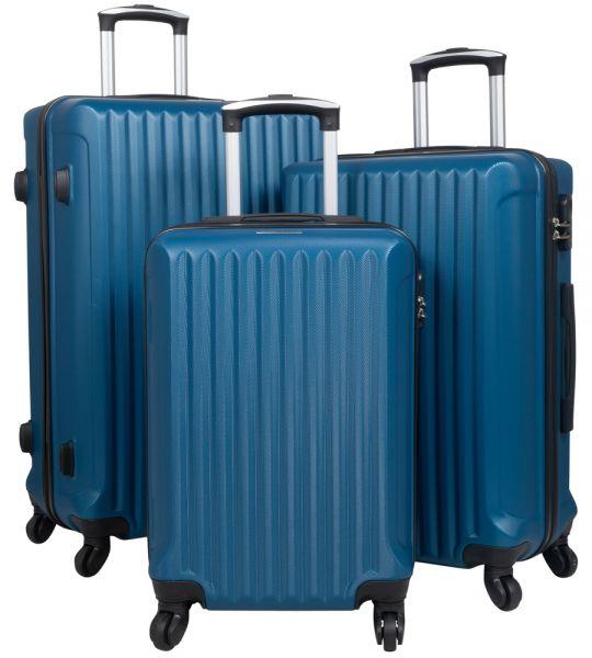 ABS Kofferset 3tlg blau