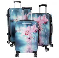 Polycarbonat Kofferset 3tlg Orchidee